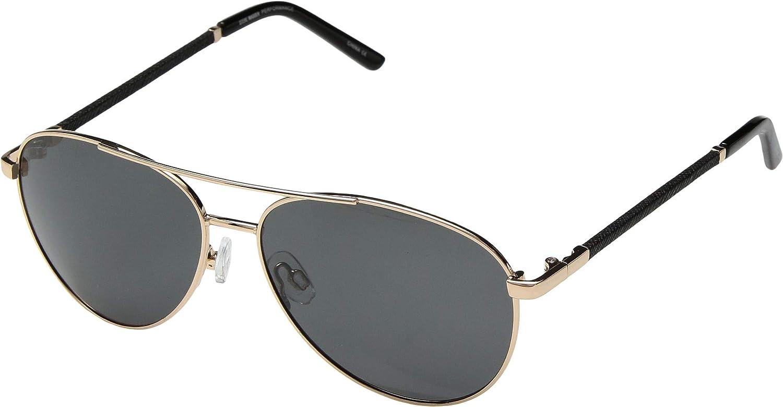 0eb39ca09ffbe Amazon.com  Steve Madden Women s Polarized Callie Gold Frame Brown Lens One  Size  Clothing