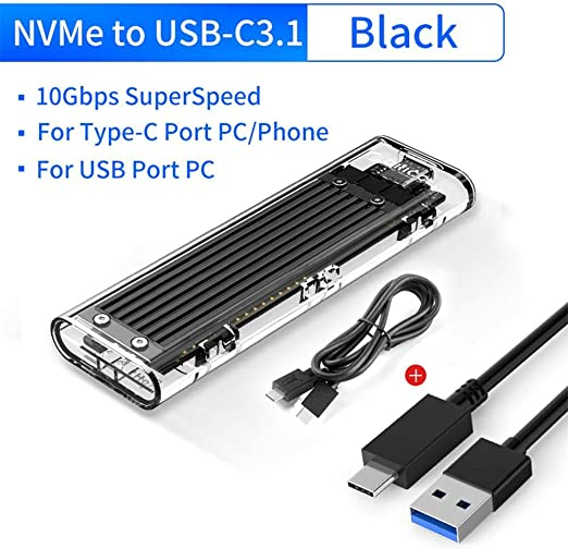 Caja de disco duro externo con interfaz de salida USB 3.1 tipo C ...