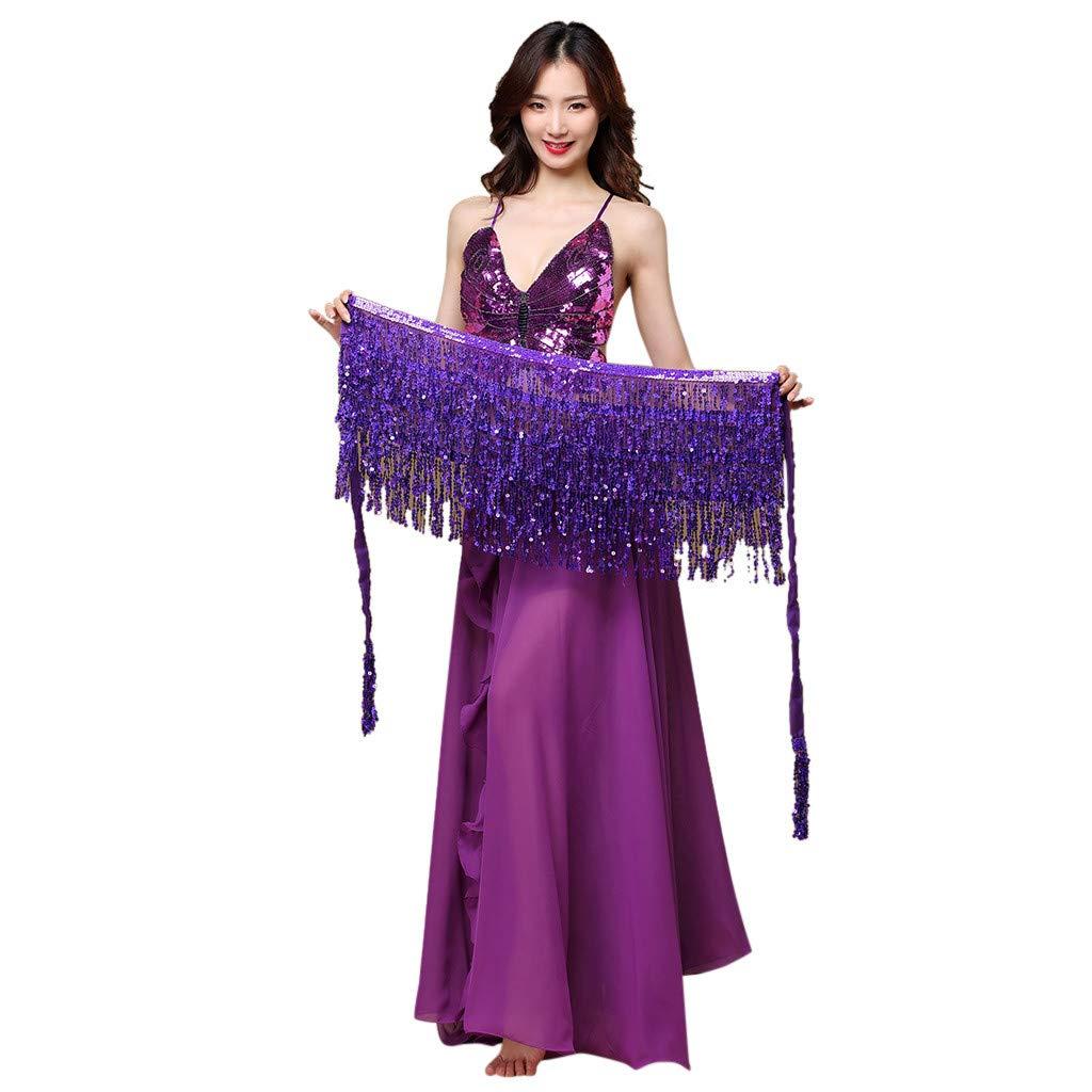 HCFKJ Gonna con Paillettes Gonna Gonna Cintura Costume Costume Danza del Ventre