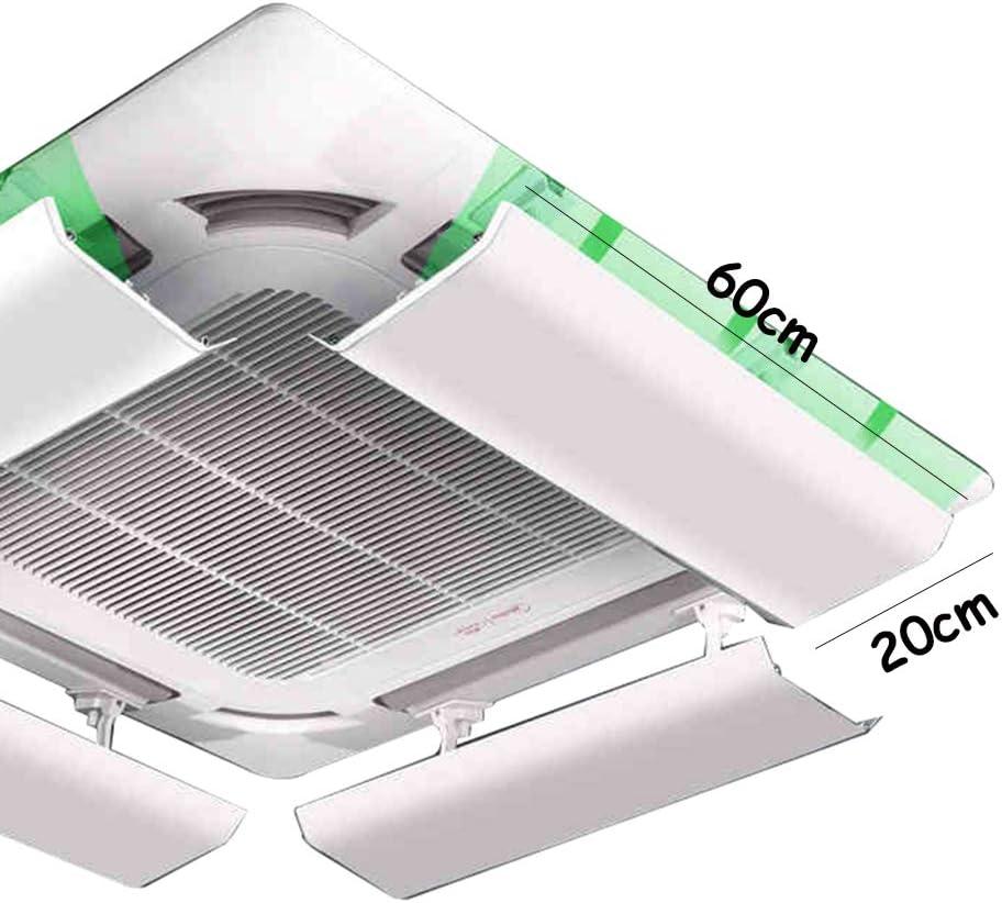 Deflector De Aire Acondicionado para Techo Aire Acondicionado Central /áNgulo Ajustable Acero Pl/áStico Pieza /úNica Yingpai Adecuado para 40-100cm Evita El Soplado De Aire Directo