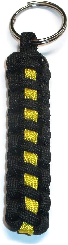 Llavero de piel como cuerda trenzada de colores. Amarillo - 03032020100RK-006 amarillo