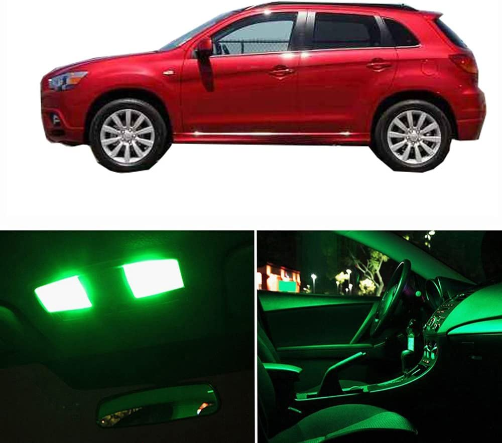 cciyu LED Interior Light Accessories Replacement Package Kit 10 Pack Red Replacement fit for Mitsubishi Outlander Sport 2010-2017