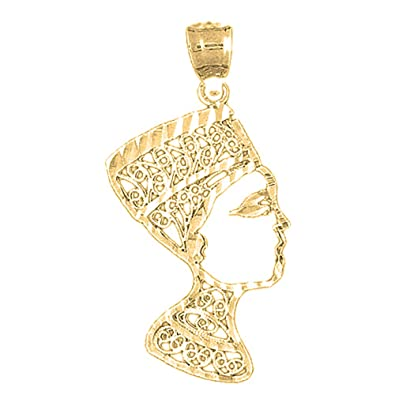 Amazon yellow gold plated 925 silver 40mm nefertiti pendant amazon yellow gold plated 925 silver 40mm nefertiti pendant necklace jewelry mozeypictures Gallery