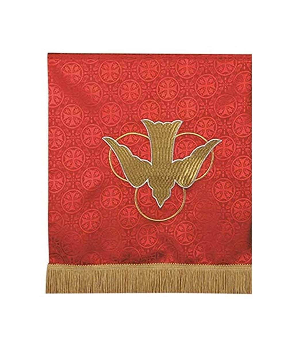 38 Inch Toomey Red Polyester Holy Spirit Dove Embroidered Pulpil Scarf R.J