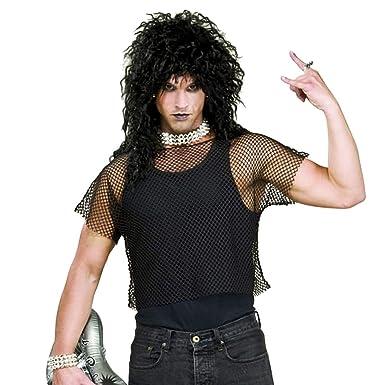 1081abdbad Amazon.com: Men's 80's Heavy Metal Rock Star Mesh Shirt Costume ...