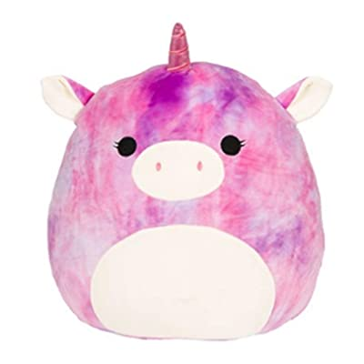 "Squishmallow SQ18-019S, 8"" Tye Die Unicorn Toy, Multicolor: Toys & Games"