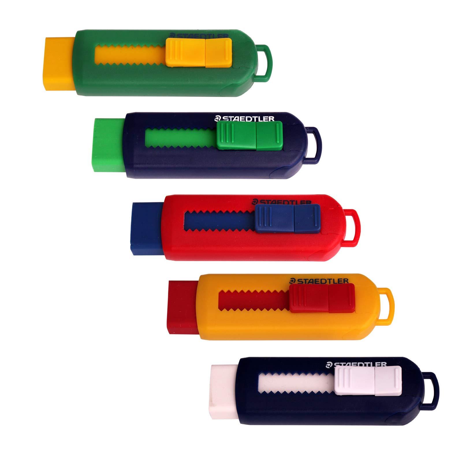 Staedtler Sleeve Sliding Plastic Eraser - Pack of 5 by Using (Image #1)