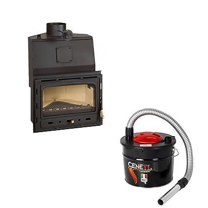 Combustión de madera chimenea Insertar Prity, Modelo AC W20, salida de calor 25 kW