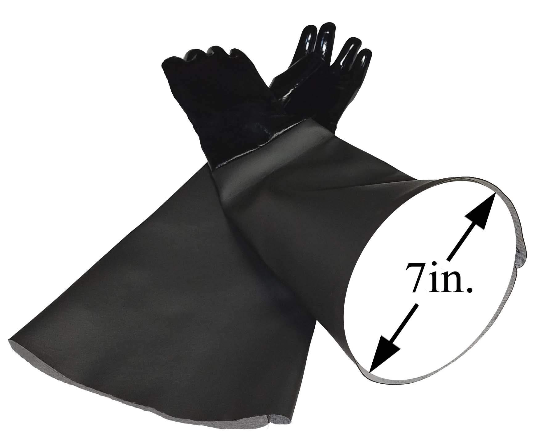 TUFF-Blast Neoprene Gloves for Sandblasting Sandblaster Sand Blast Cabinet - 7'' x 26'' Made in USA by TUFF-Blast