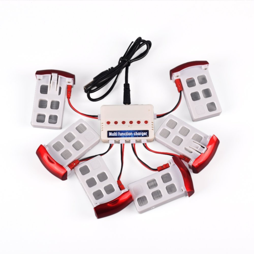 marca famosa YouCute 6pcs 3.7V 500mAh Battery and 1to6 charger for for for syma X5U X5UC X5UW RC quadcopter drone spare parts  Entrega directa y rápida de fábrica