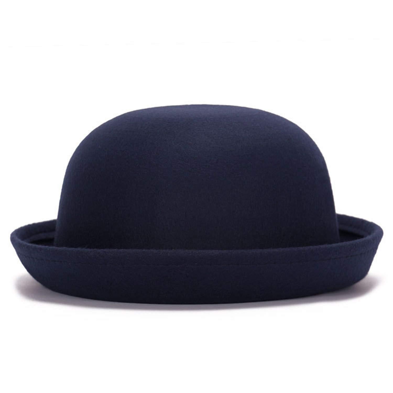 Zesoma Winter Women Woolen Felt Hat Fedoras Warm Soft Formal Hat Casual Bowler Hat