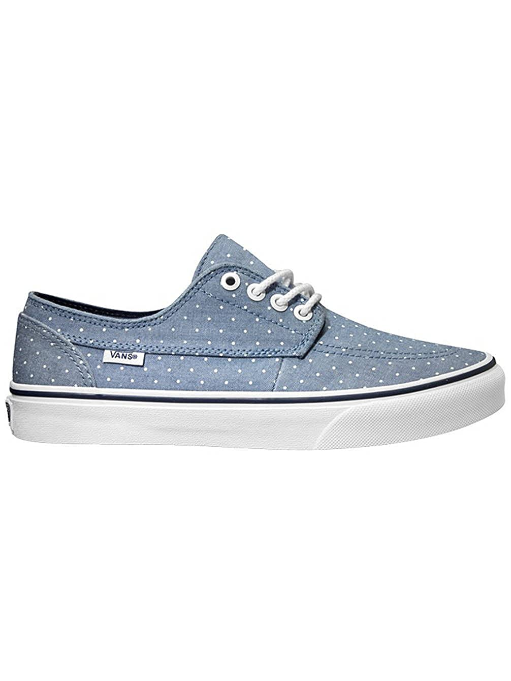 ceb553494339 Amazon.com  Vans Unisex Brigata Slim Chambray Dots Sneakers blue M8.5 W10   Shoes