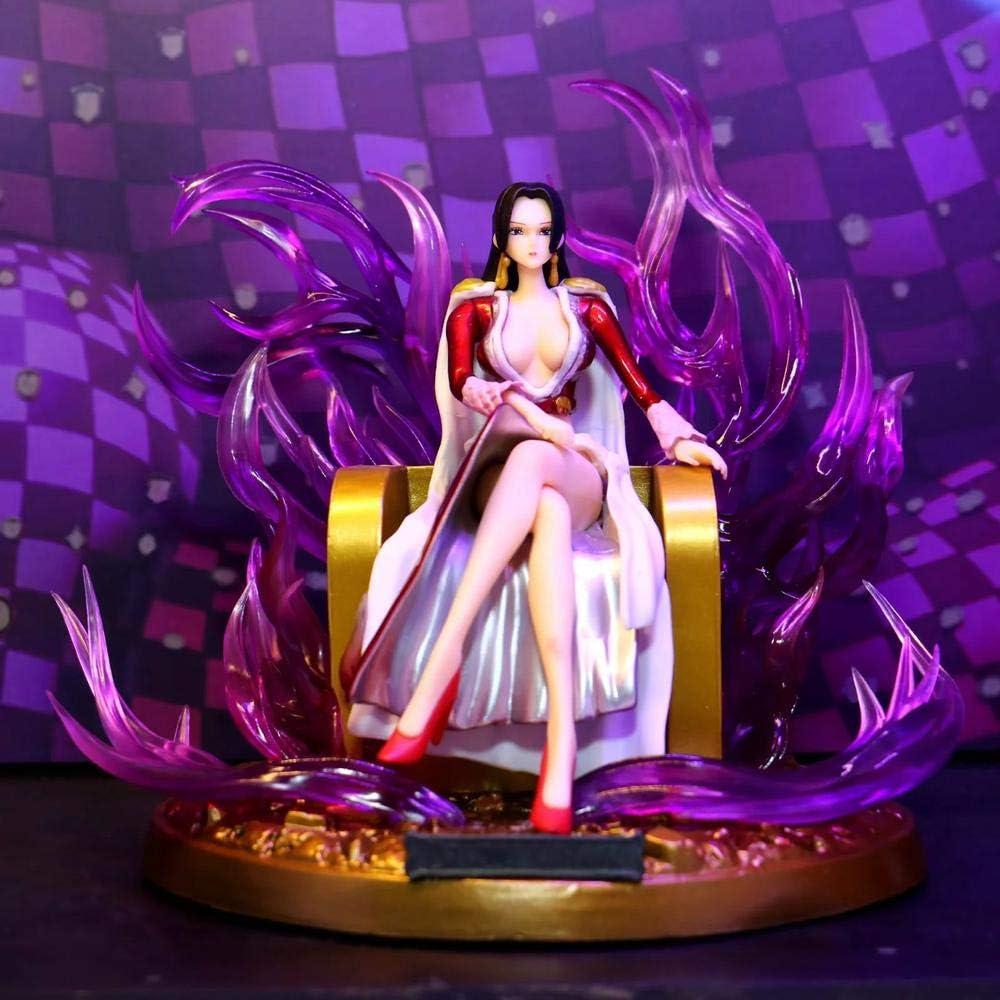 UNA Pieza Carácter Trono Boa Hancock Figura De Acción Animada Modelo Decoración Estatua De Cumpleaños Niños Juguetes 18cm