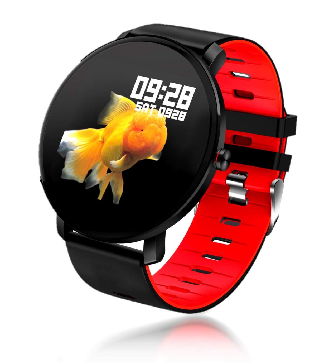 TDOR Smartwatch Deportivo para Hombre Llamadas y Whatsapp, Monitor de Actividad, Color Rojo
