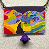 ''In Love'', Cat Necklace, Cat Earrings, Cat Art, Abstract and Colorful, From Original Art by Artist, Patti Siehien, Abstract Art, Ships Free