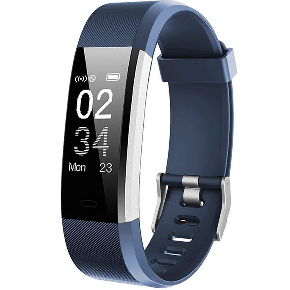 Willful Fitness Armband mit Pulsmesser, Wasserdicht IP67 Fitness Tracker Aktivitä tstracker Pulsuhren Smartwatch Schrittzä hler mit Vibrationsalarm Anruf SMS Whatsapp fü r iPhone Android Handy