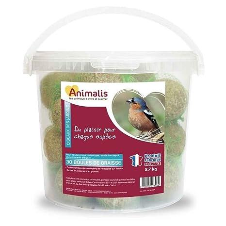 Animalis Boules de Graisse pour Oiseaux des Jardins x30  Amazon.fr ... 515d5a31a5b1