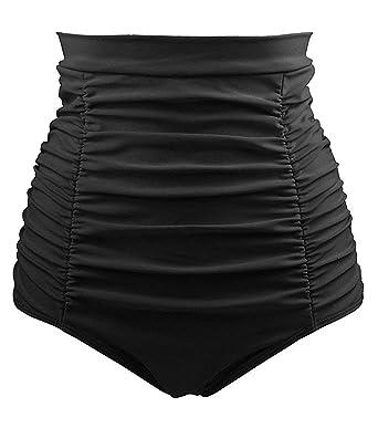 Bikini Bauchweghose in schwarz