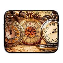 Creative Antique Pocket Watch Design Laptop Sleeve Case Protective Bag Briefcase Sleeve Bags Cover For Macbook/Ultrabook/Notebook/Laptop