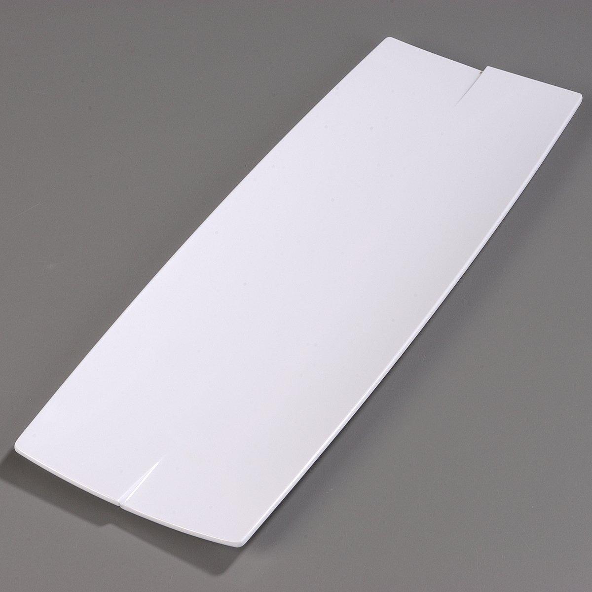 White 23 x 7.87 x 0.87 Carlisle 3332402 Rave Melamine Display Rectangular Platter Case of 6