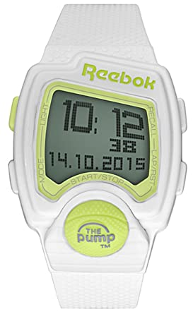 668ae71598cd08 Image Unavailable. Image not available for. Color  Reebok Pump PL White  Digital Sports Watch