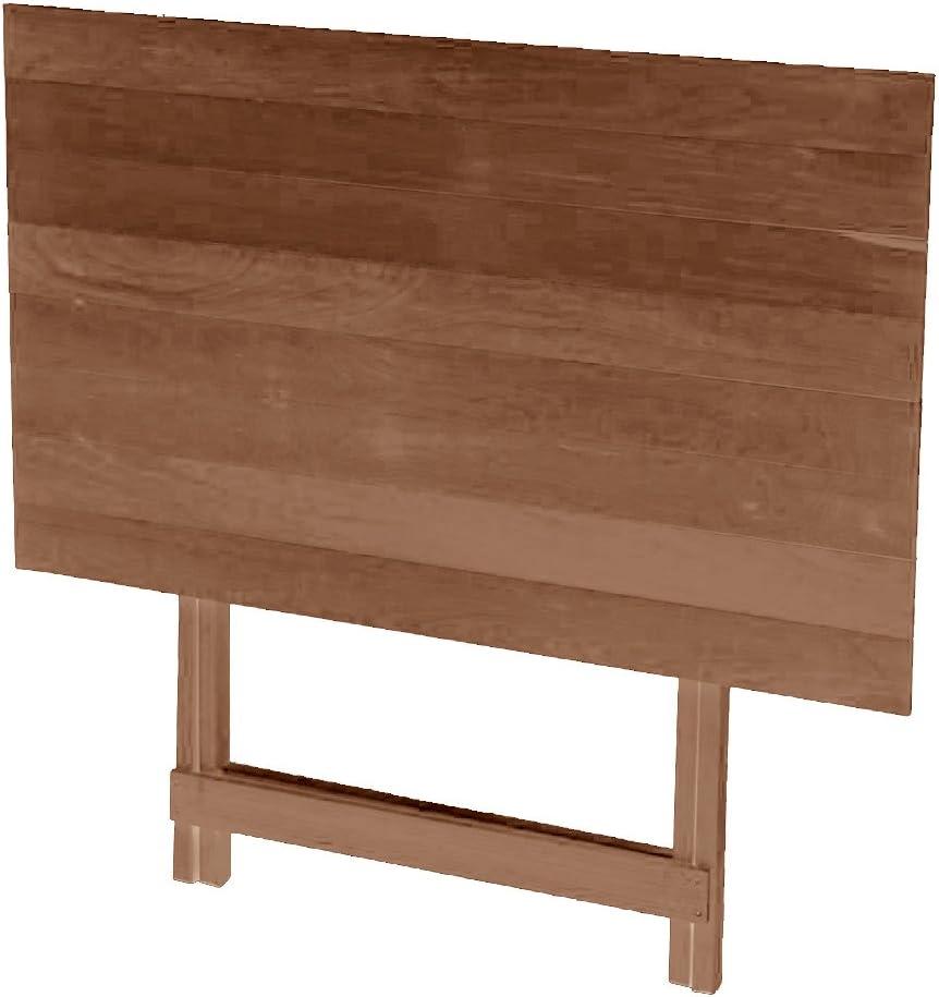 FRASM Tisch in Holz Natur Ma/ße 60/x 80/cm klappbar H/öhe verstellbar walnuss