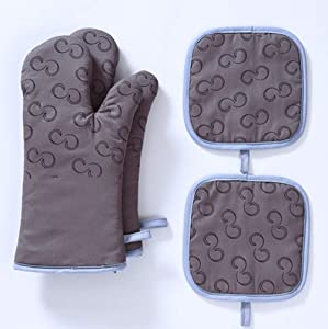 Malarocoby Set of 4 Oven Mitts and Pot Holders, 500 F Heat Resistant Hot Plate Moving Non-Slip Gloves for BBQ, Grill, Baking, Cooking, Oven, Microwave