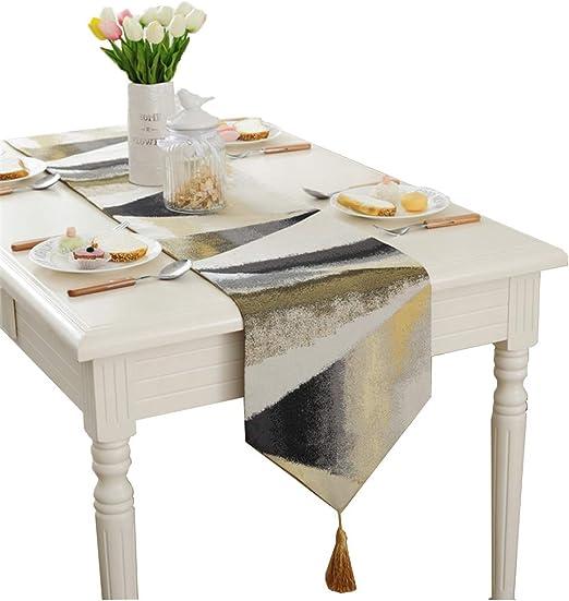 Europa moderna camino de mesa (tela jacquard, funda para mesa ...