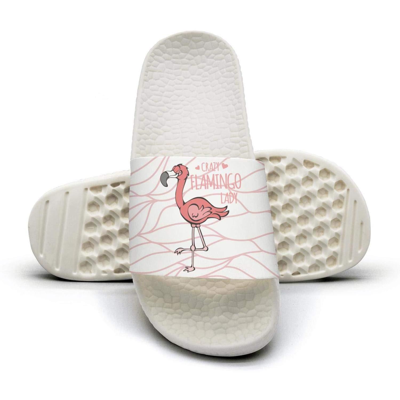 Crazy flamingo lady Mens sliders Slides Shoes