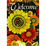 Carson Home Accents Autumn Sunflowers Trends Classic Large Flag
