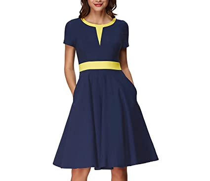 Trendy-Nicer Pinup Rockabilly Vintage Patchwork Dress Vestidos Robe Femme Casual Party 2018,3