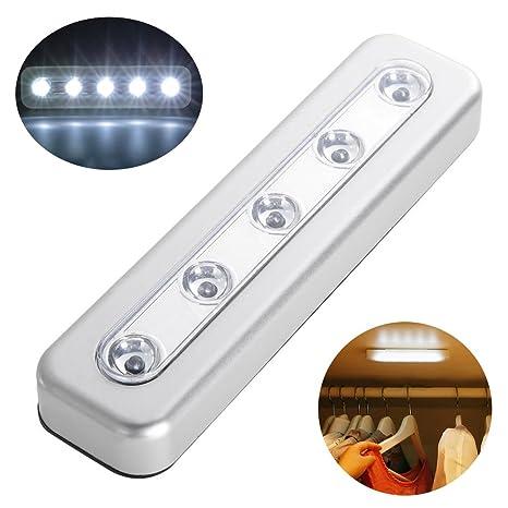 Comficent Lámpara LED del Armario Recargable magnético Movimiento Stick-on en Cualquier Lugar con Banda