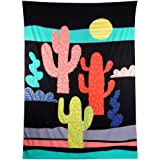 Tloowy Cactus Wall Hanging Tapestry Hippy Boho Gypsy Wall Hanging Bedspread Beach Towel Throw Mat Blanket Table Cloth Yoga Mat (59''51.2'')