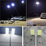 Telescopic COB Rod LED Fishing Outdoor Camping Lantern Light Lamp Hiking BBQ