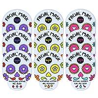 SpaLife Halloween Themed Dia de Muertos Facial Mask 9 Count