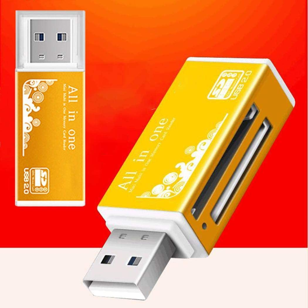 dalinana Portable Lightweight USB 2.0 High Speed Card Reader for Smartphone Computer Memory Card Readers