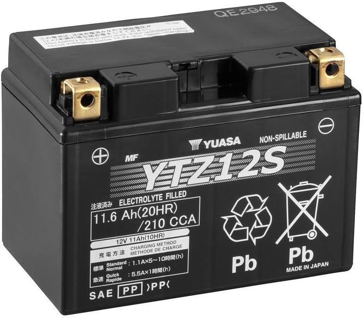 Batterie YUASA YTZ12S f/ür BMW HP2 Enduro Baujahr 2008 12V//11AH Ma/ße: 150x87x110