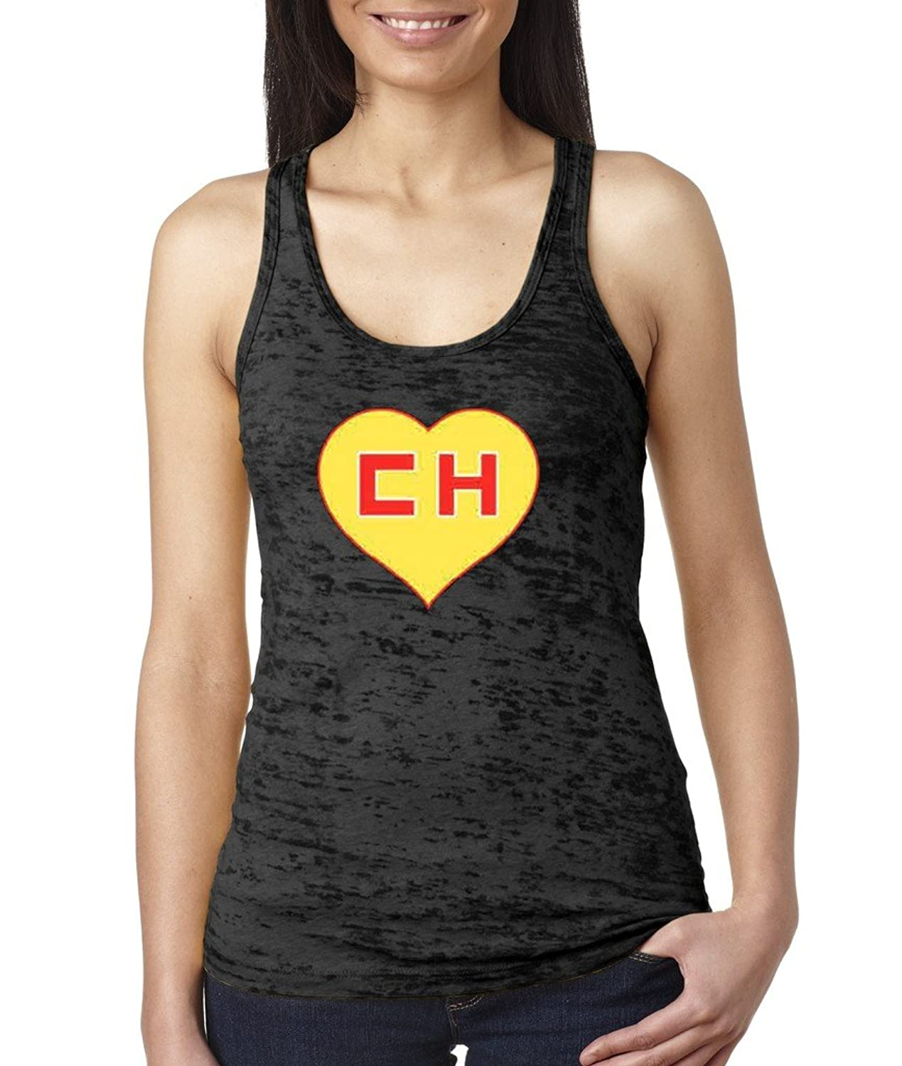 El Chapulin Colorado El Chavo Burnout Tank Chespirito Racerback Black 1064