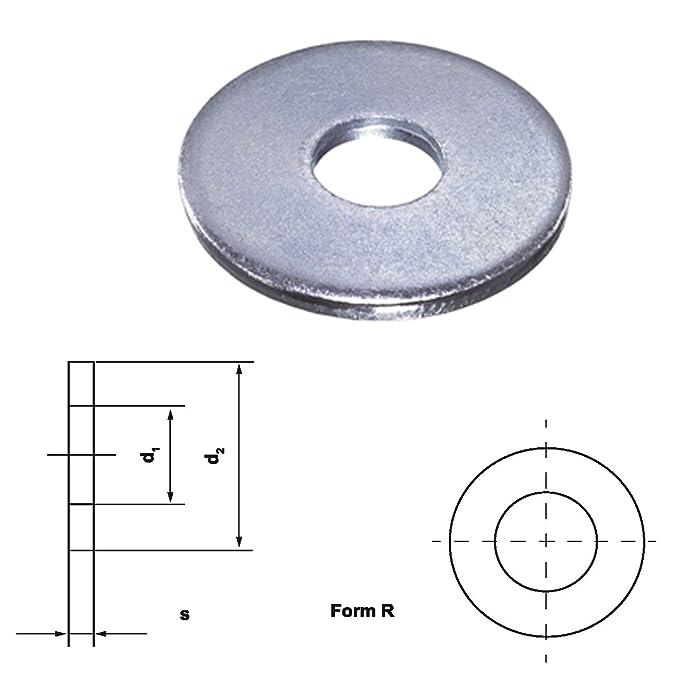 Unterleg Scheibe Form R DIN 440 verzinkt Ø 5.5-24.0 mm