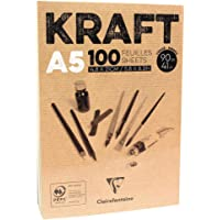 Bloco de Papel Kraft Clairefontaine A5 90G/M³ CLAIREFONTAINE, Craft