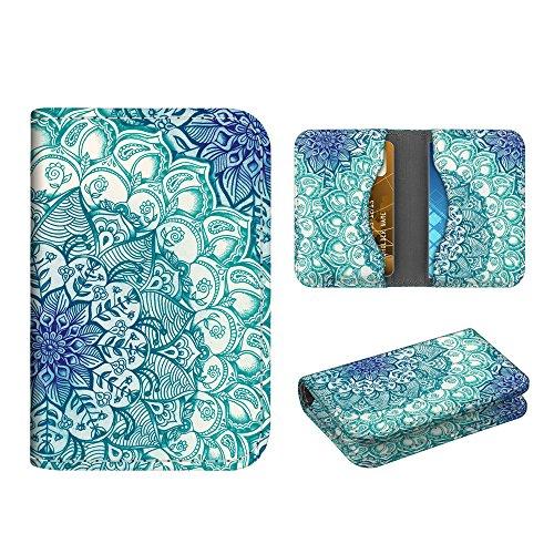 Business Card Holder Case, Fintie Premium Vegan Leather Folio RFID Blocking Credit Cards ID Card Wallet Organizer with Magnetic Closure, Emerald Illusions