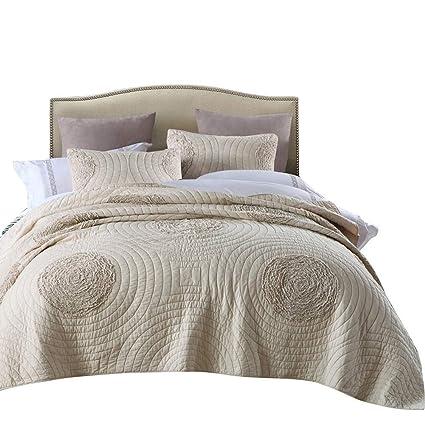 Amazon Com Mixinni Quilt Set Beige California King Size 106 X 96