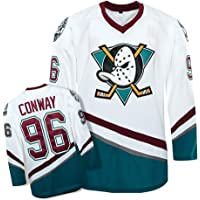 Yajun Charlie Conway #96 Mighty Ducks Película Camisetas Hockey Jersey sobre Hielo NHL Hombre Ropa Respirable T-Shirt de…