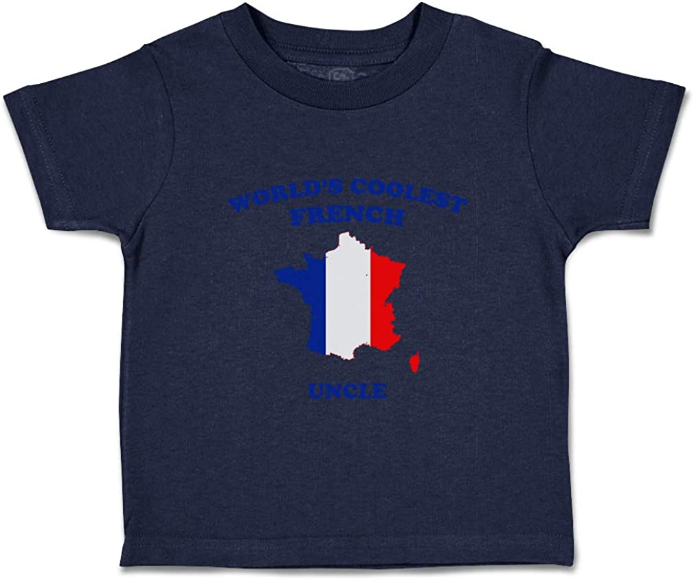 Custom Baby /& Toddler T-Shirt Worlds Coolest French Uncle Boy Girl Clothes