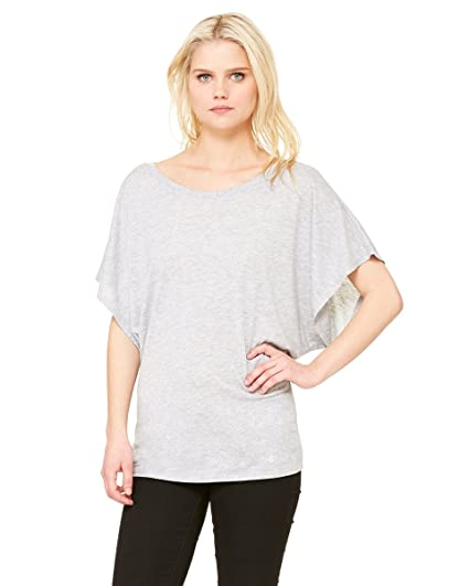 ad4f6099f Bella womens Flowy Draped Sleeve Dolman T-Shirt(8821)-ATHLETIC HEATHER-