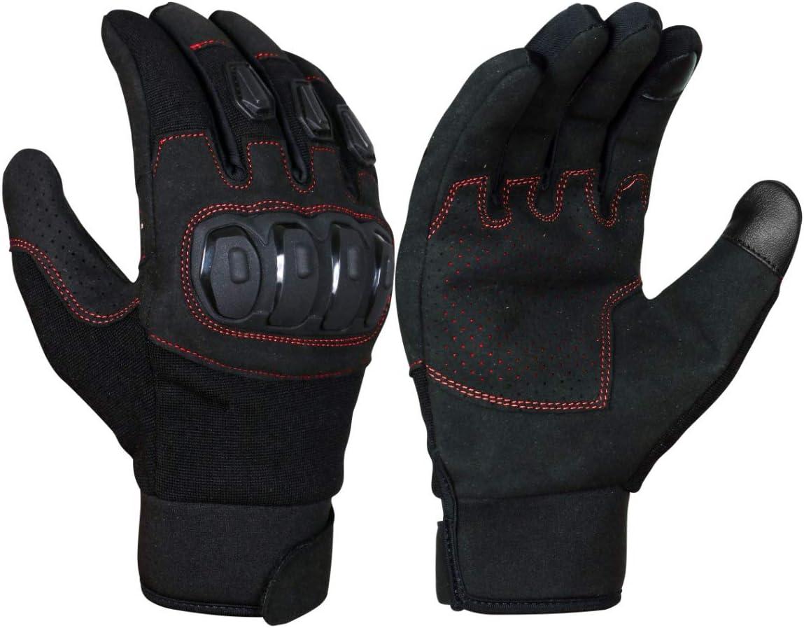 Jet Motorradhandschuhe Herren Sommer Touchkompatible Fingerspitzen Kn/öchelschutz Bel/üftung ECCO XL, Schwarz
