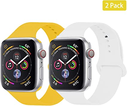Amazon.com: Fvntuey 2-Pack Smartwatch Sport Bands Compatible ...
