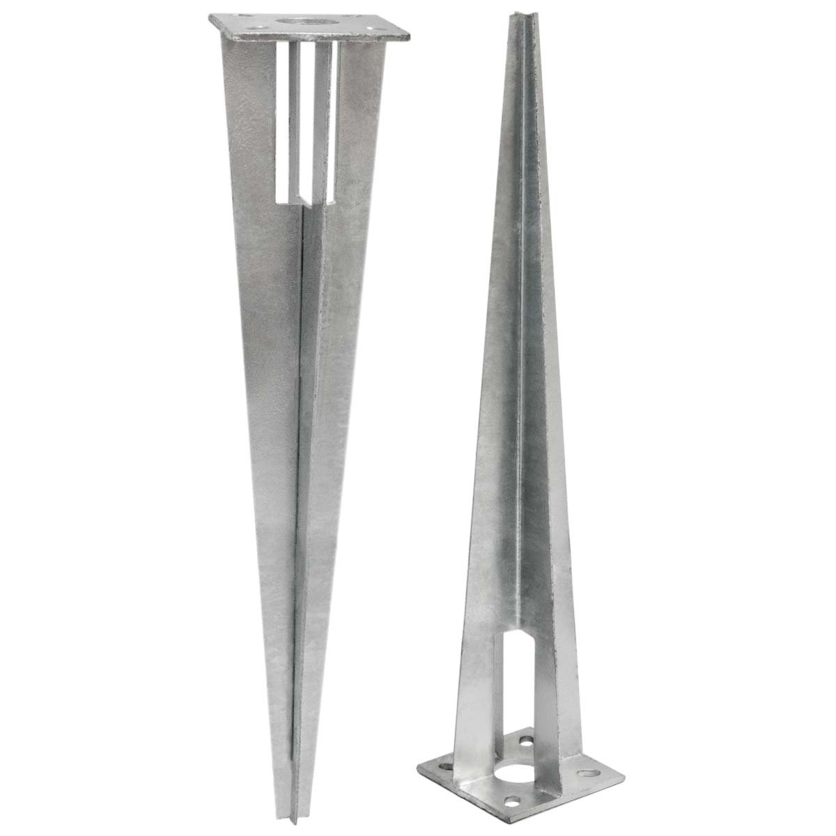 NIEDERBERG METALL Piquet en métal galvanisé env 50cm de long | idéal pour enfoncer et sécuriser au sol poteaux de clôtures de env Ø34mm | Argenté Omnideal