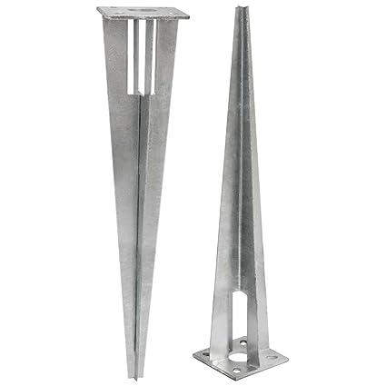 Niederberg Metall Estaca De Metal Galvanizado De Forma Piramidal - Vallas-de-metal