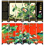 TANGFOO Home decor Lacquer Small Folding Screen 47 cm24 cm0.7 cm room Dividers wood made Table Screens desk Ornaments (3)